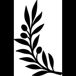 Olive Branch Silhouette Silhouette Stencil Leaf Stencil Leaf Silhouette