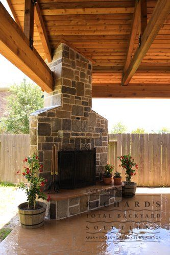 Outdoor Covered Patio With Fireplace Great Addition Idea Dream Dream Dream: Patio Fire Pit In Corner - Google Search