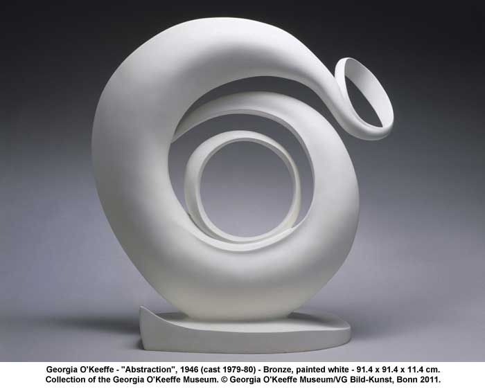 Georgia O Keefe Abstraction Bronze Painted White Georgia O Keeffe Georgia Okeefe O Keeffe