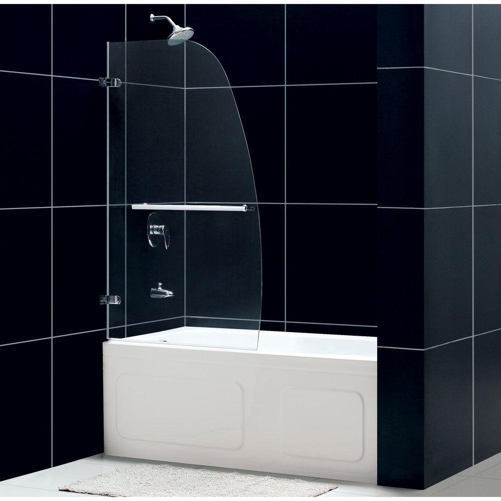 DreamLine Aqua Uno 34x 58 Inch Single Panel Hinged Tub Door | Overstock.com