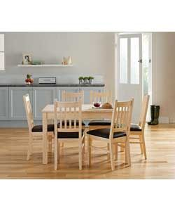 Buy Cucina Light Oak Dining Table and 4 Chairs at Argos
