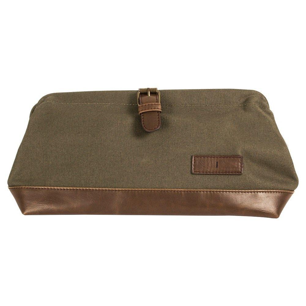 Monogram Groomsmen Gift Travel Dopp Kit Toiletry Bag - I, Green