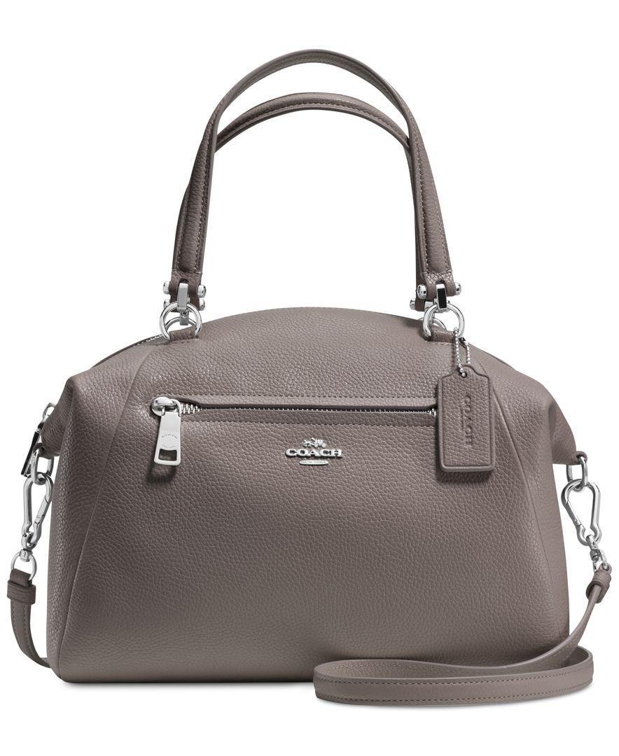 Coach Prairie Satchel In Pebble Leather Handbags Accessories Macys
