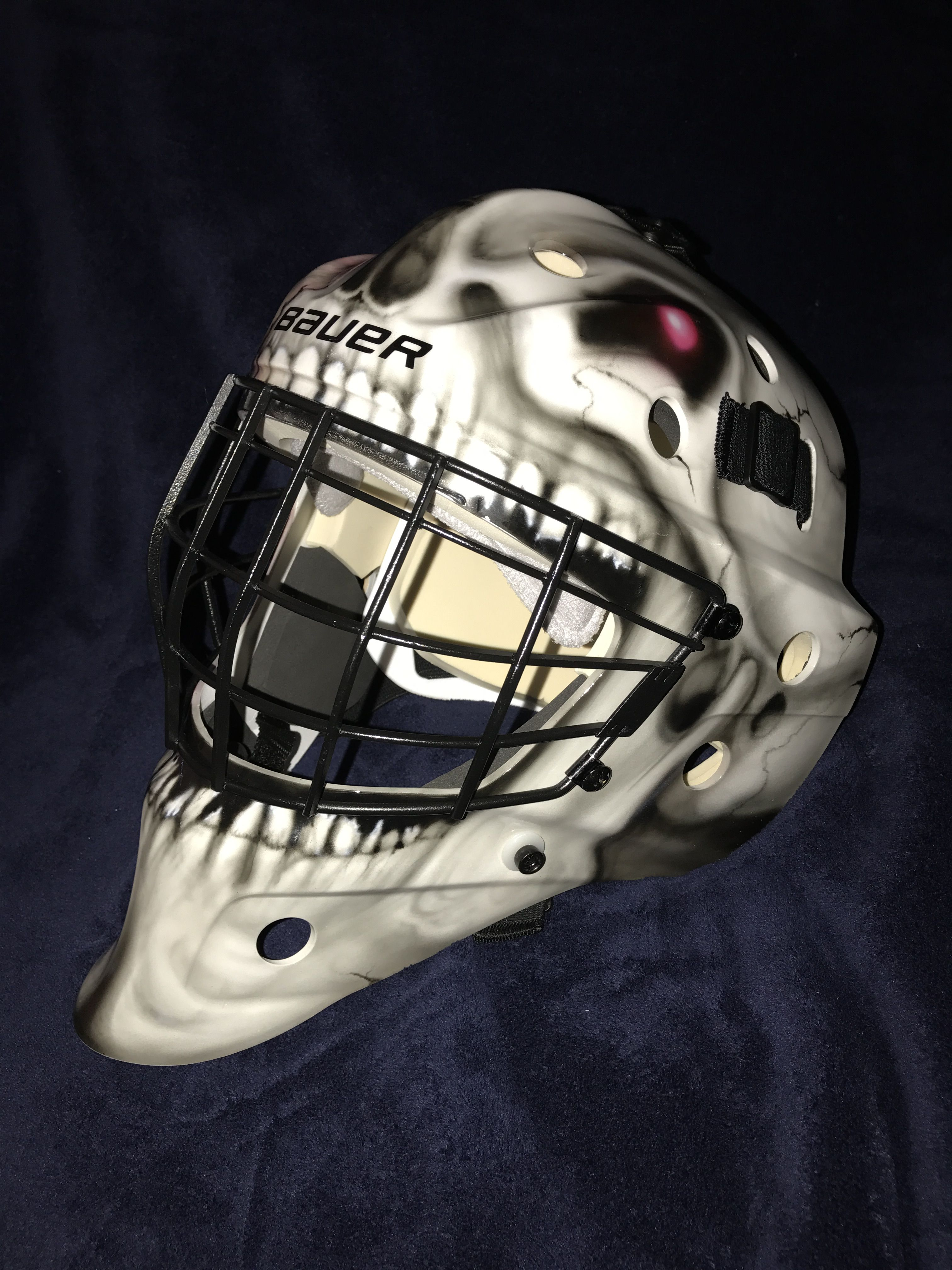 This Skull Zombie Goalie Mask We Painted Goalie Mask Custom Airbrushing Airbrush