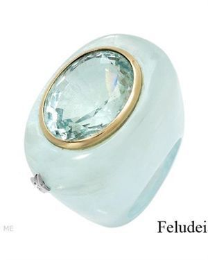 FELUDEI - Made In Italy Ring Designed In 18K Two Tone Gold