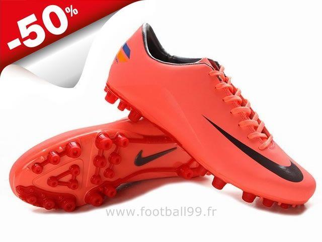 new style 3ed1b 6a47d Chaussures de foot nike Mercurial Glide III AG Rouge Noir Crampon Nike  Mercurial