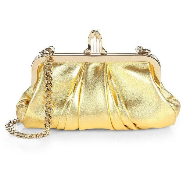 Christian Louboutin Mini Loubi Lula Laminata Convertible Clutch ($597) ❤ liked on Polyvore featuring bags, handbags, clutches, mini handbags, real leather purses, mini purse, genuine leather purse and genuine leather handbags