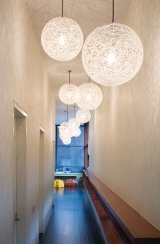 Random hall lights- great looking idea!