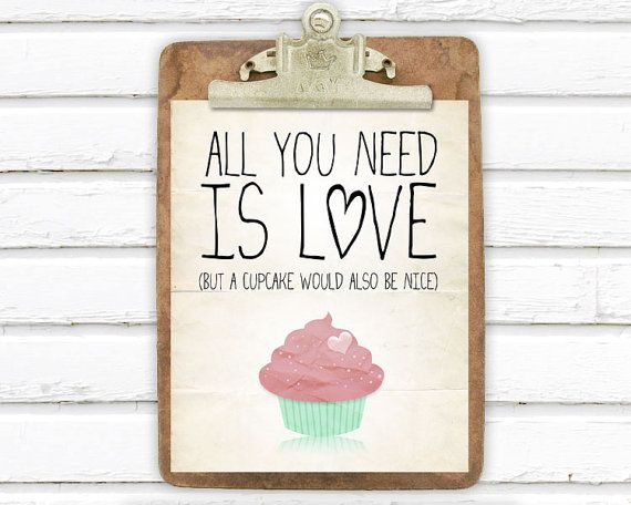 adorable cupcake art print, perfect for a gallery wall #sweets