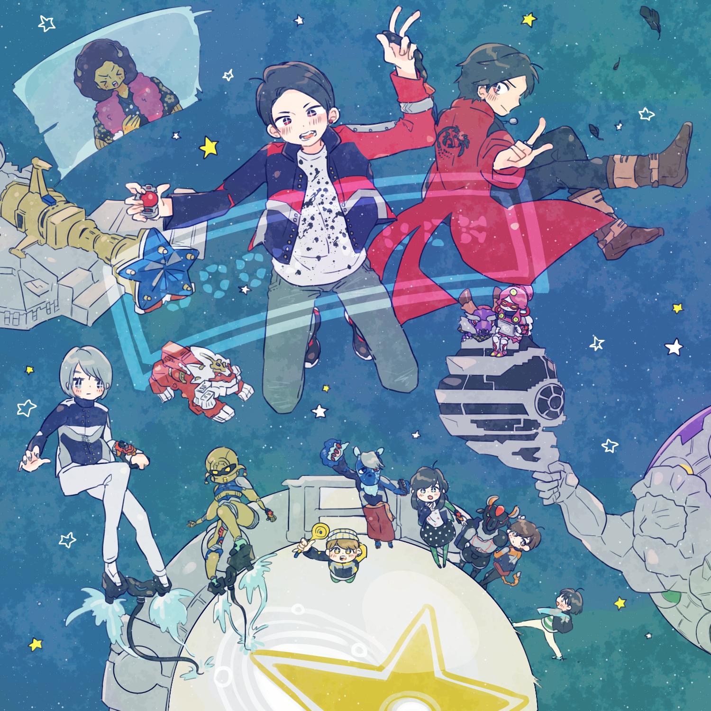 Pin oleh JazzyJ 🎨🌈 di Kyuranger Jepang, Seni anime, Seni