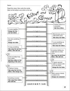 Meet And Greet Word Ladder Grades 4 6 School
