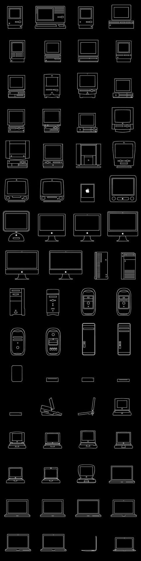 Stories of Apple on Tumblr — Icons of 30 years of Macs Source: Apple