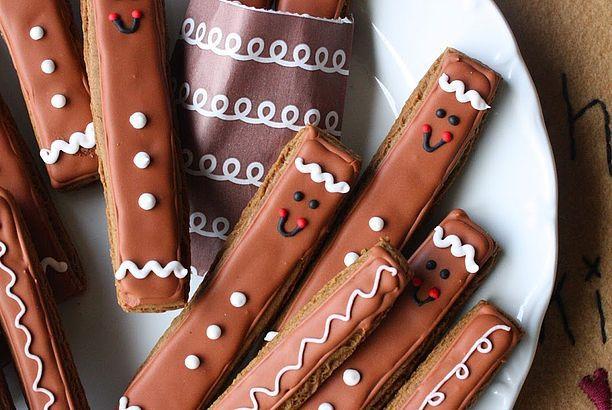 Gingerbread Men Cookie Sticks