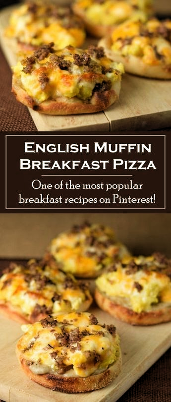 English Muffin Breakfast Pizza -  English Muffin Breakfast Pizza  - #breakfast #BreakfastRecipes #BrunchRecipes #english #HealthyBreakfasts #muffin #pizza