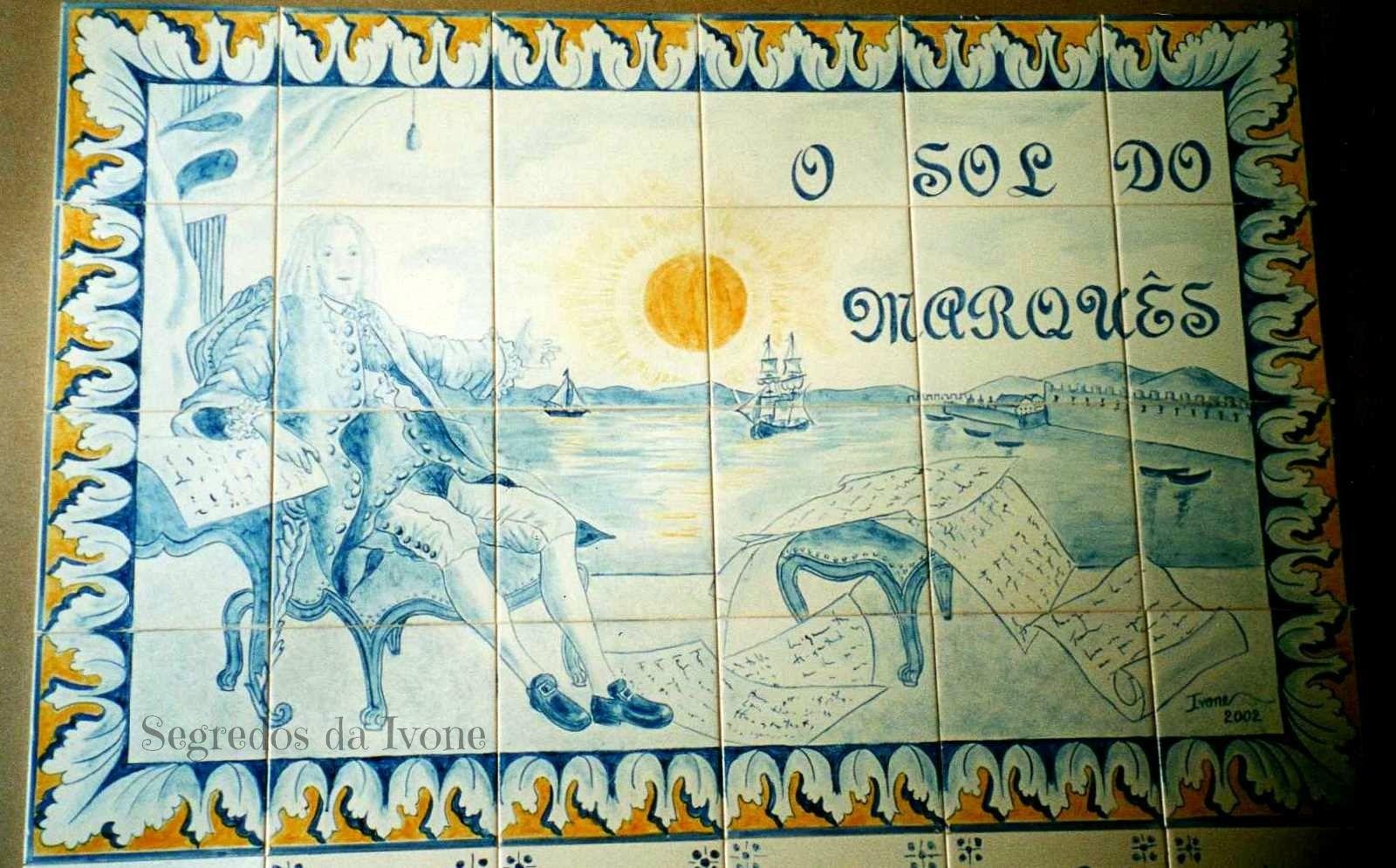 PA17- Quadro pintado em azulejo
