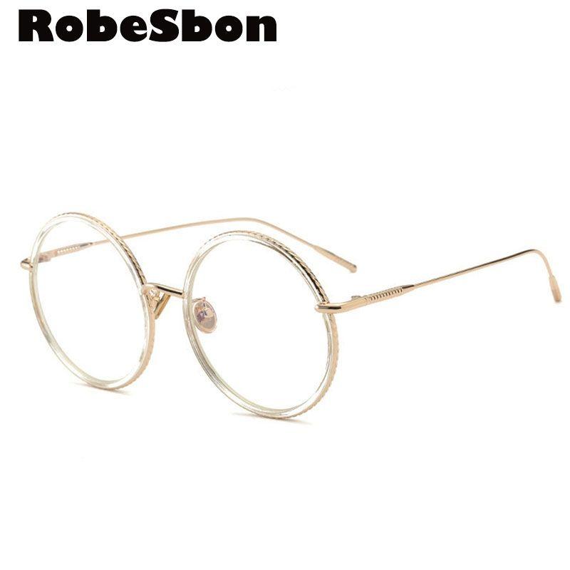 cad6eb66e5 Mens New Brand Gold Clear Eyeglasses Frame Vintage Myopia Glasses Women  Computer Glasses Frame Fashion Men