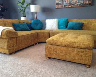 Navy Blue Tweed Sectional Sofa Google Search