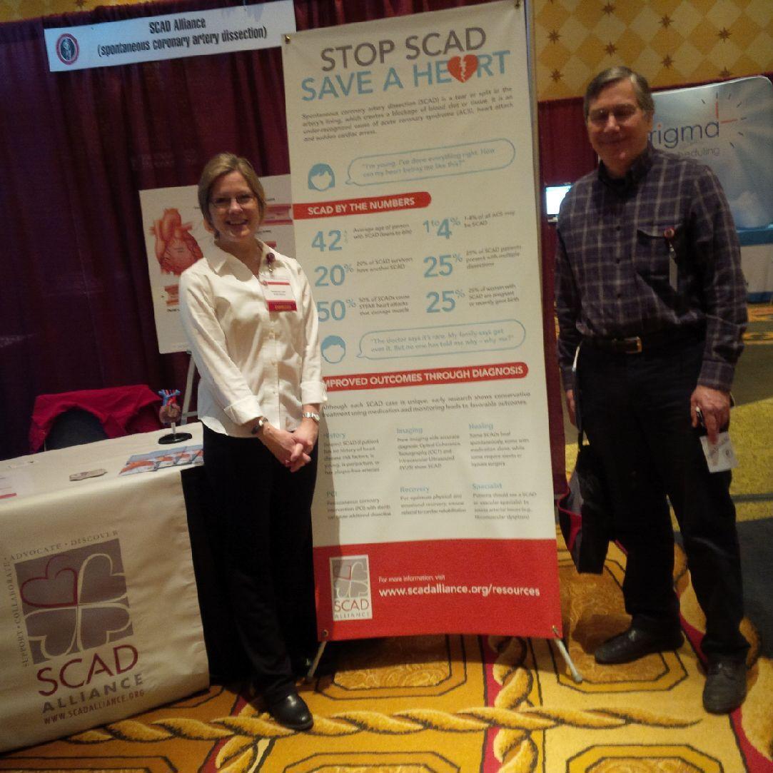 SCAD Alliance's Katherine Leon, left, with Andrew Nevitt