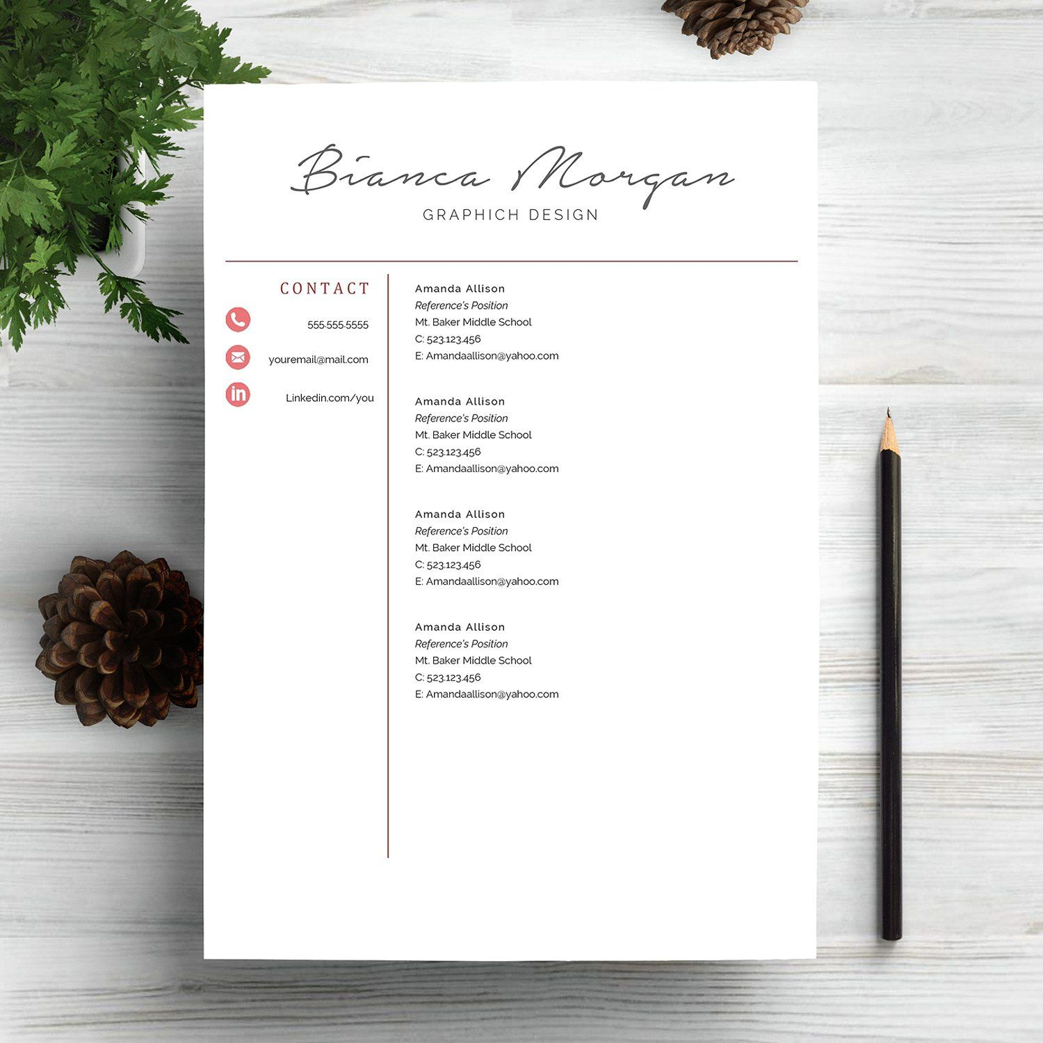 professional resume template cv by indograph on - Gmail Resume Templates