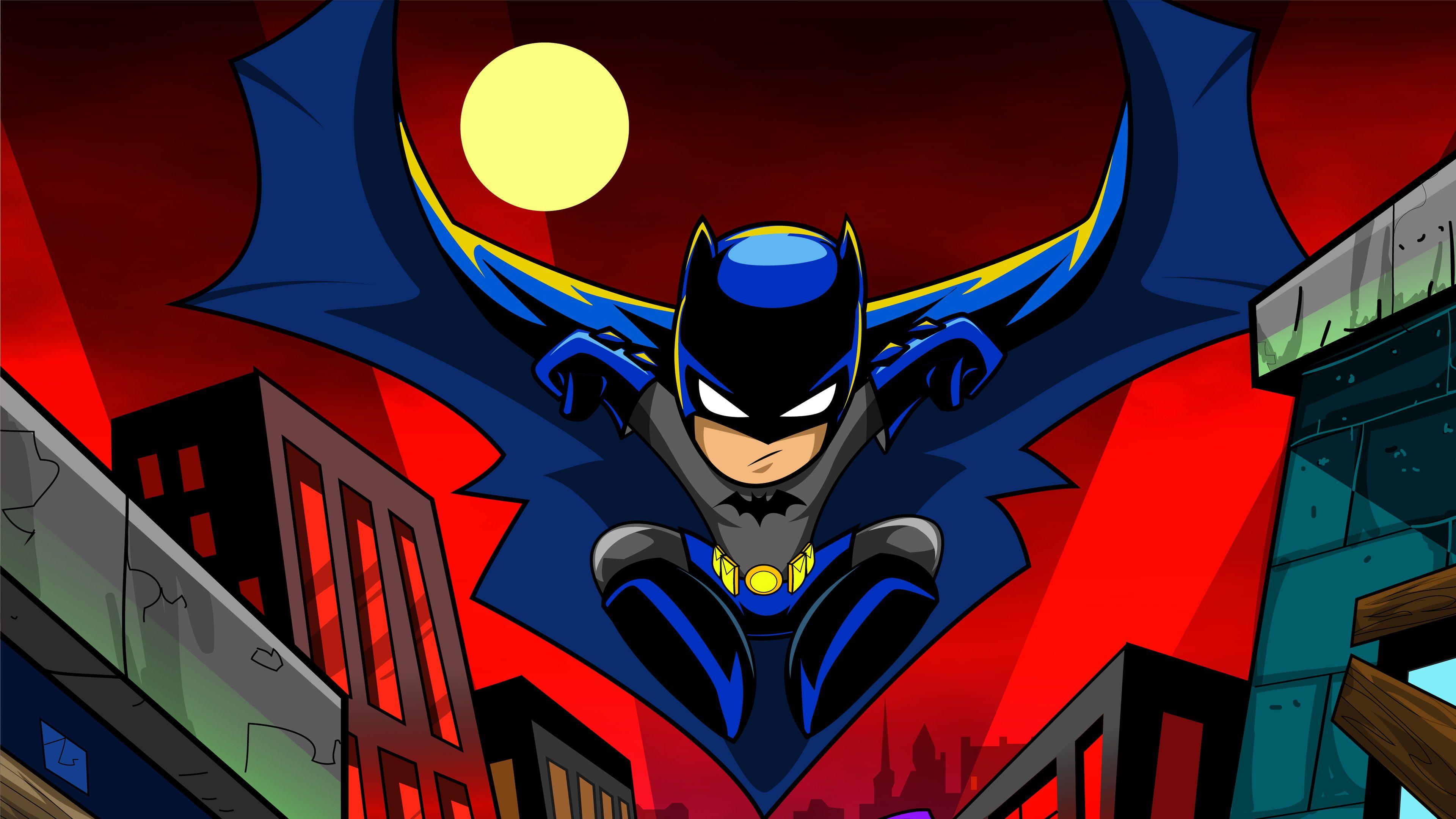 Batman Cartoon Art 4k Superheroes Wallpapers Hd Wallpapers Digital Art Wallpapers Cartoon Wallpapers Batman Wallpaper Cartoon Wallpaper Hd Cartoon Wallpaper