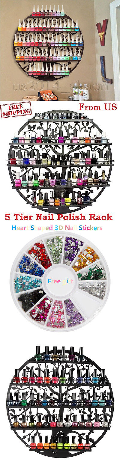 Nail Practice and Display: Tree Silhouette Black Round Metal Wall ...