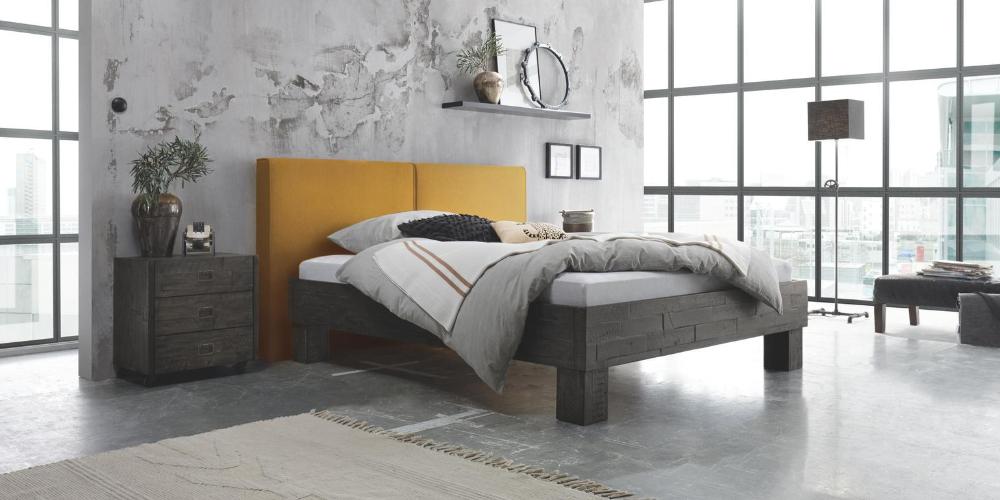 Hasena Factory Line Bei Dormito Naturlichkeit Trifft Urbanen Flair In 2020 Massivholzbett Gepolsterte Wandpaneele Bett