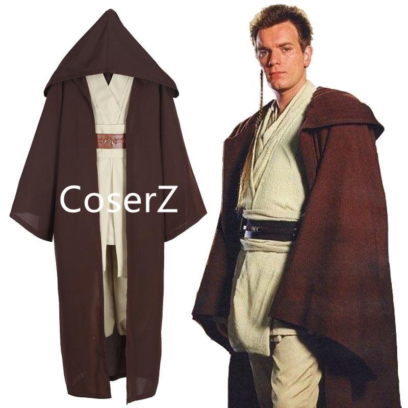 Star Wars Obi Wan Kenobi Jedi Knight Cosplay Costume Outfit Halloween Kids Suit