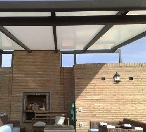 Pergolas de hierro con policarbonato buscar con google - Estructura metalicas para casas ...