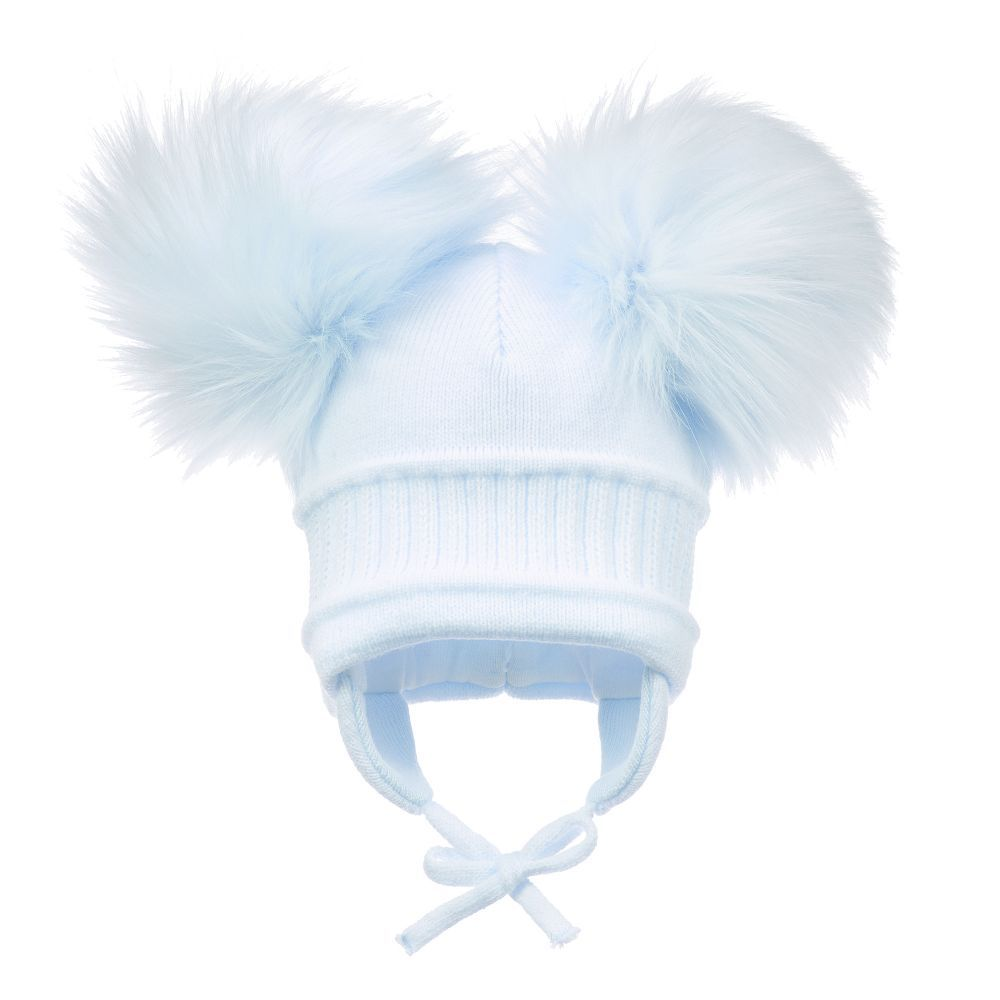 Sätila of Sweden - Unisex Blue Pom-Pom Hat  eaa8c39338cd