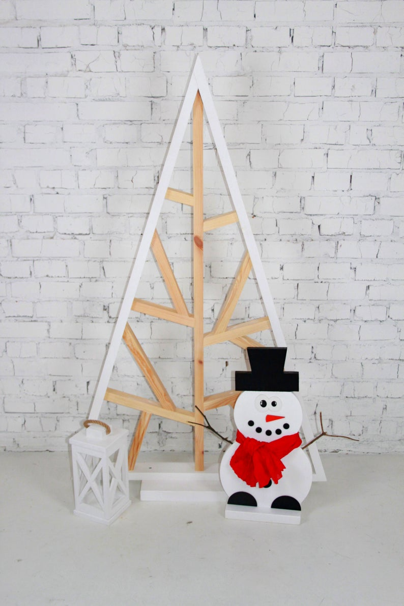 Designer Wooden Christmas Tree Decorations Christmas Decor Etsy In 2020 Wooden Christmas Trees Wooden Christmas Tree Decorations Christmas Tree Decorations