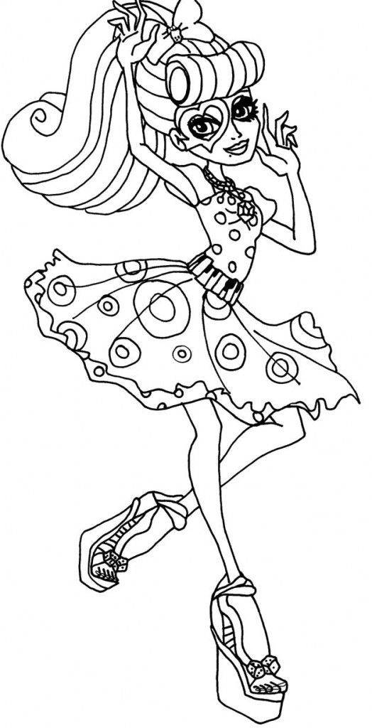 Coloring Pages Monsters High Cartoon coloring pages