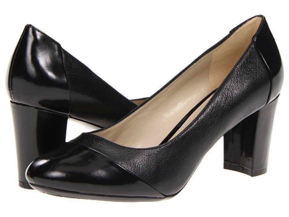 f0f57fe877 Women's Naturalizer Esme Black Leather/Shiny Pumps - 9.5M | Shoes ...