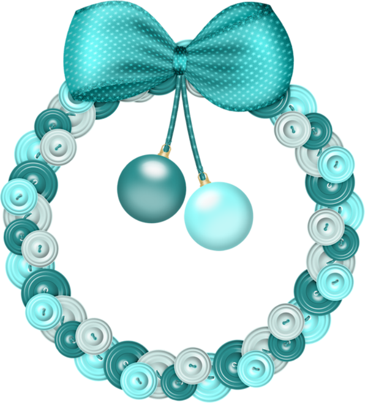 Christmas wreath blue. Photo from album scrapkit