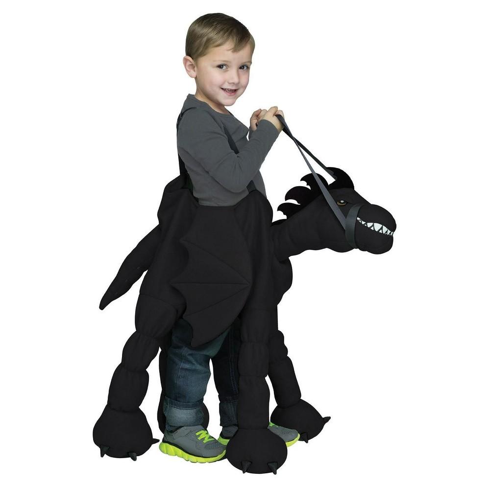 halloween fun world kids' dragon ride on costume, kids unisex, multi