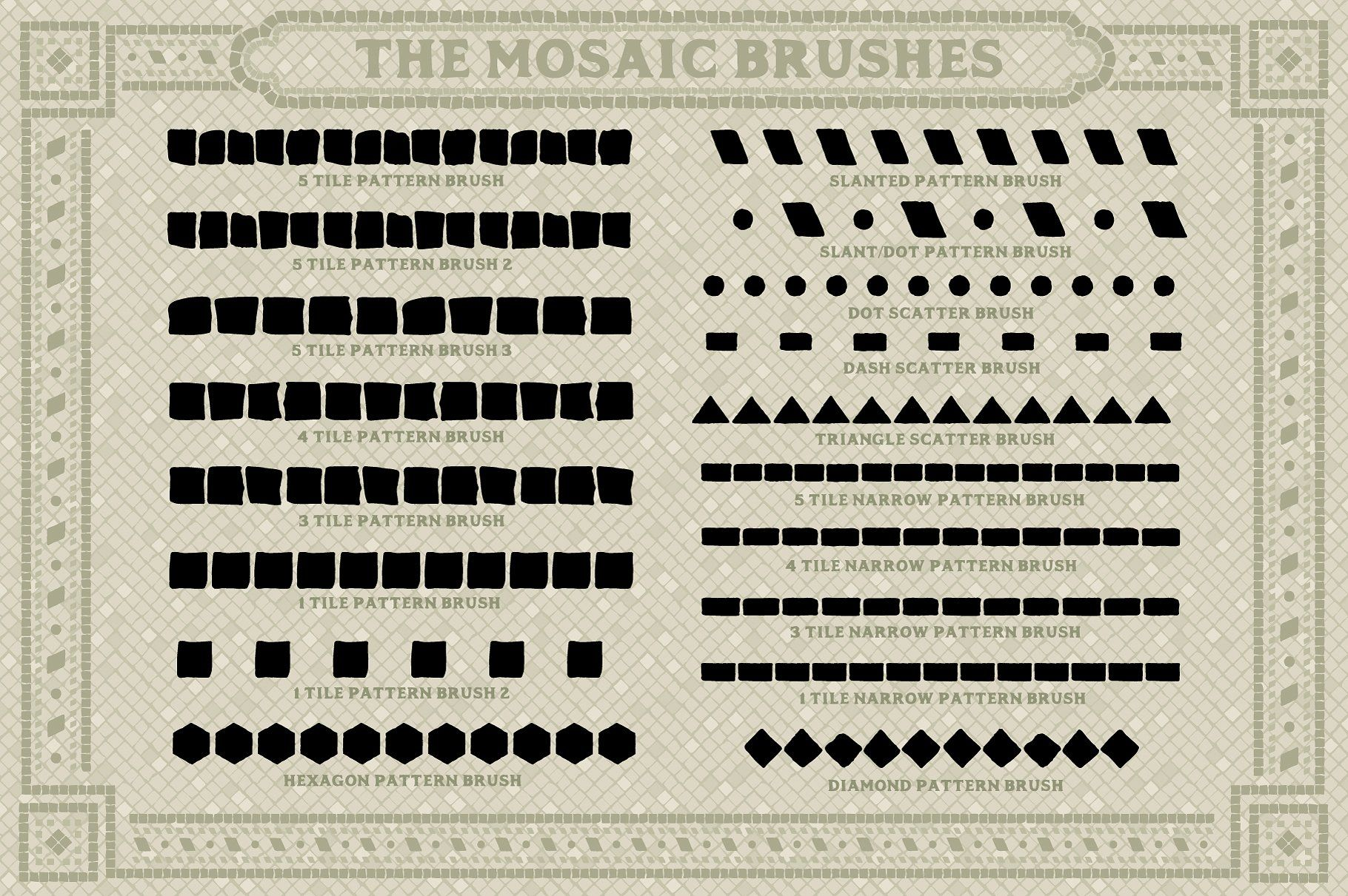 Mosaic Maker Brushes Patterns Mosaic Maker Mosaic