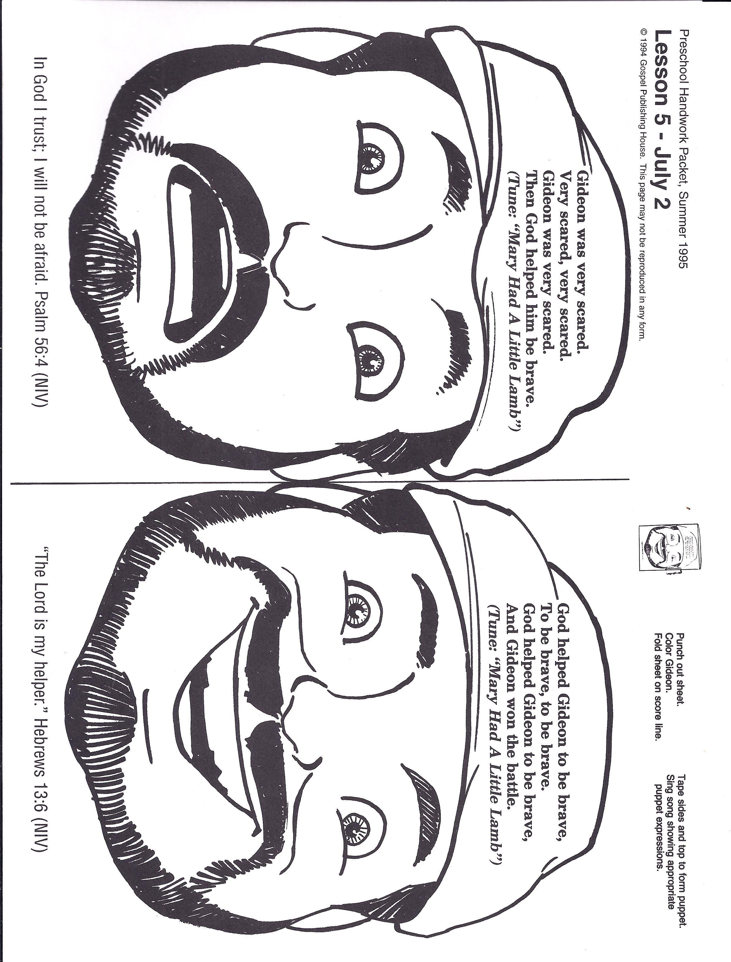 gideon coloring page - gideon pinteres