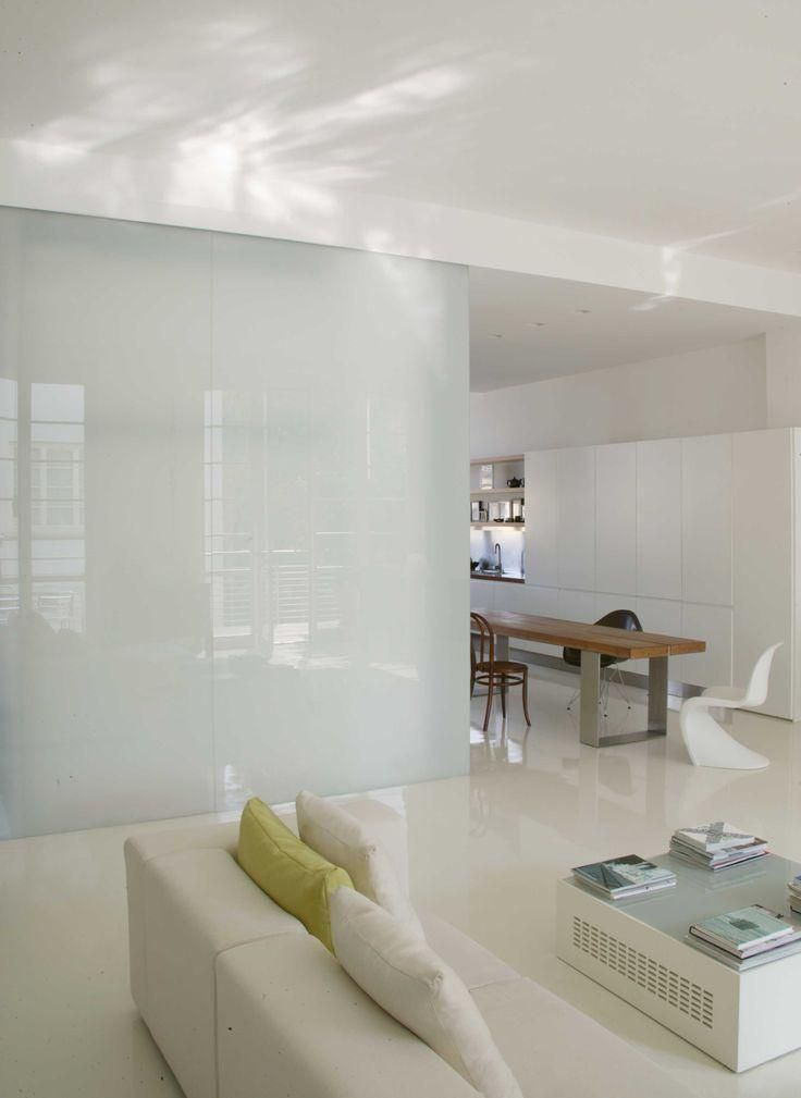 stunning tempered glass partition in the apartment design in the near living space as well white sofa feat table and lighting ceiling