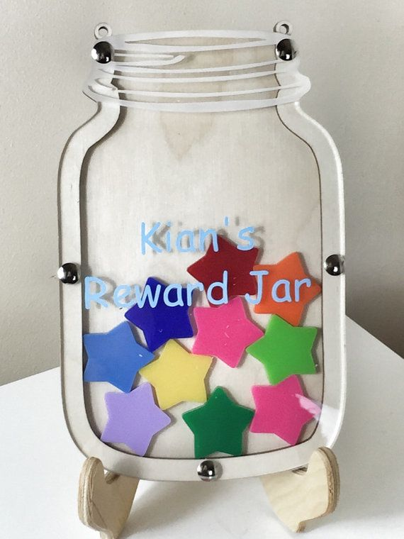Reward chart behaviour chart potty training childrens reward jar