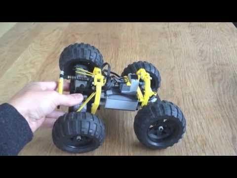 Lego Rc 4wd Monstertruck Instructions Youtube Lego Pinterest