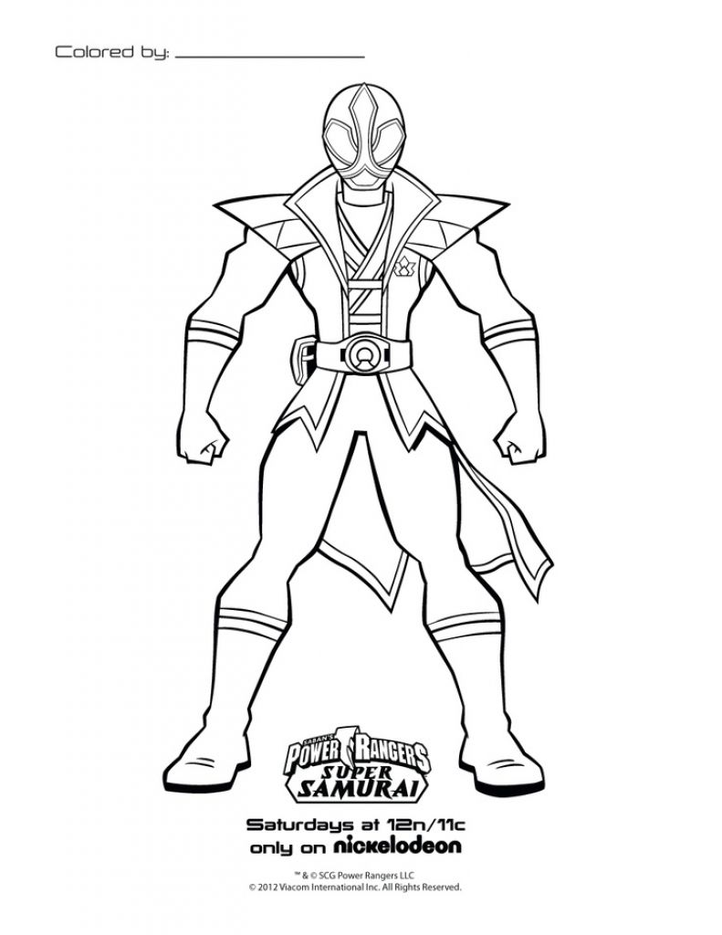 Online Power Rangers Samurai Coloring Page Free To Print ...