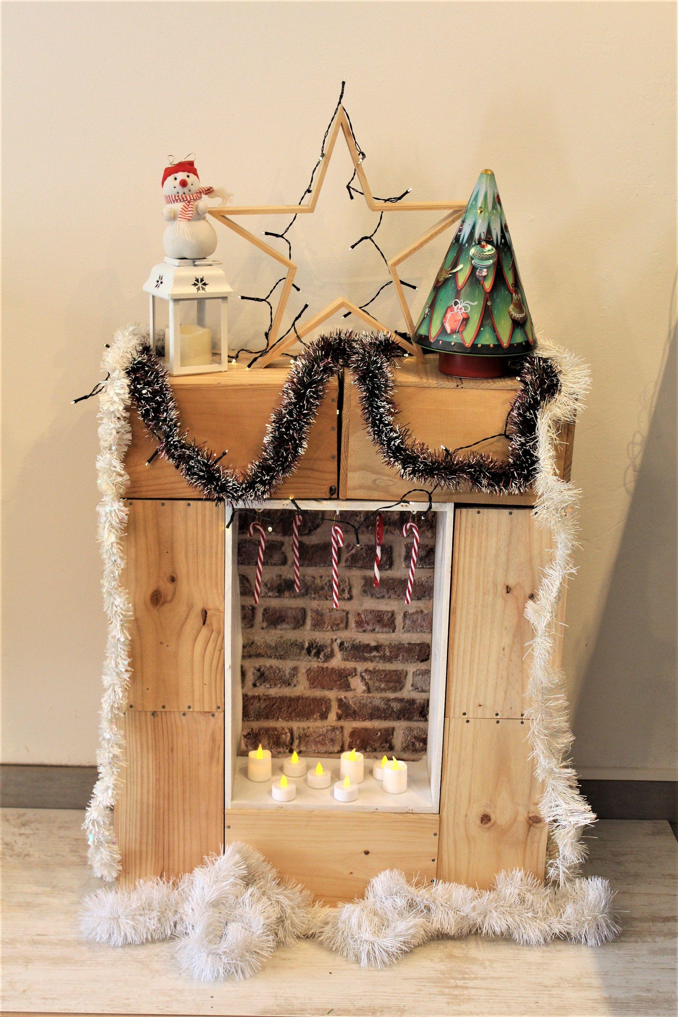 Cheminee Decoration Noel Christmas Fireplace Home Hygge Wine Box