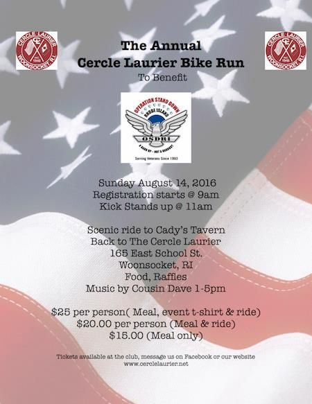 Woonsocket Ri Aug 14 2016 Cercle Laurier Annual Bike Run For