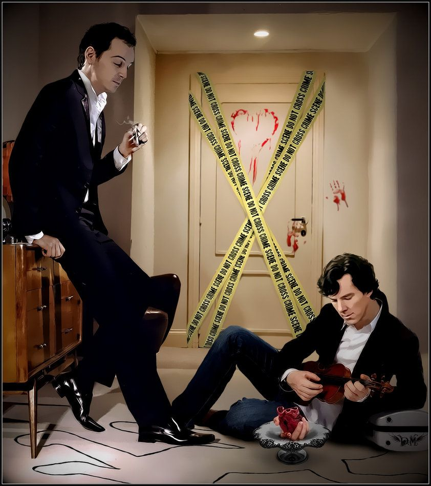"Wow. Jimlock or Sheriarty? either way...Wow. ""Bloody Valentine by ~pakost"" available at http://pakost.deviantart.com/gallery/?offset=24#/d3a80or"