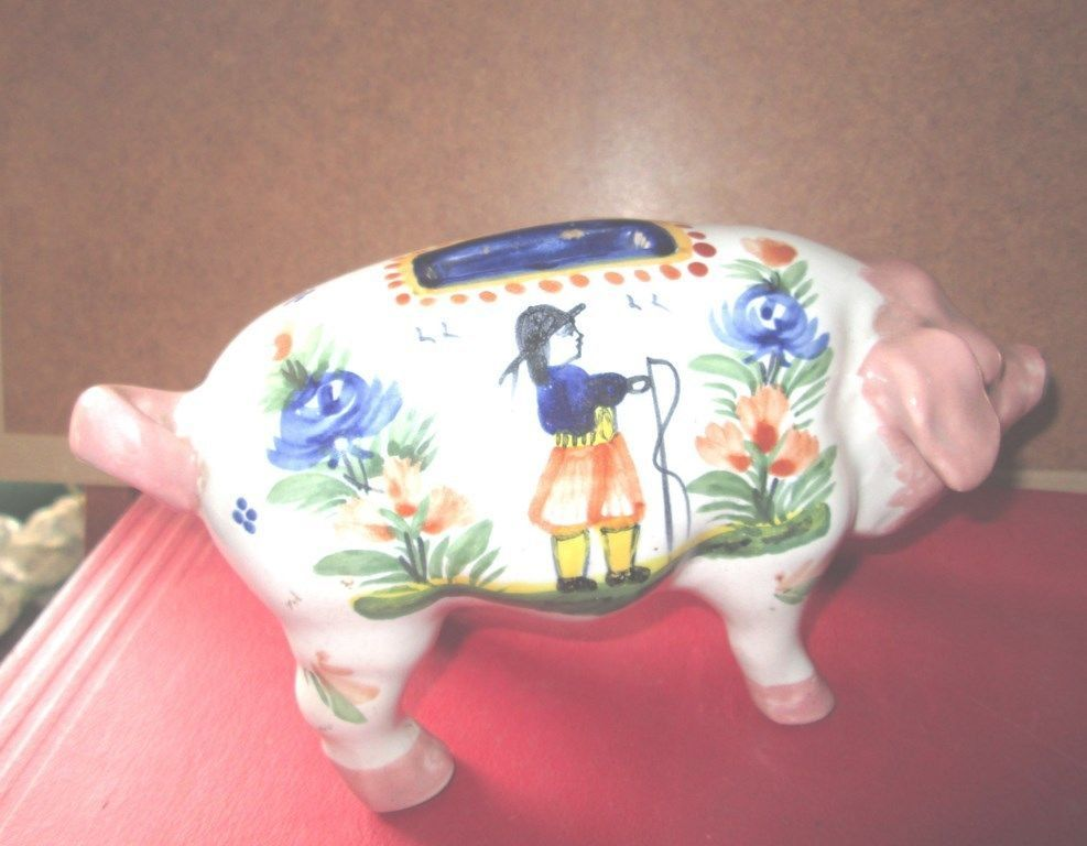 hb quimper tirelire a casser en forme de cochon french. Black Bedroom Furniture Sets. Home Design Ideas