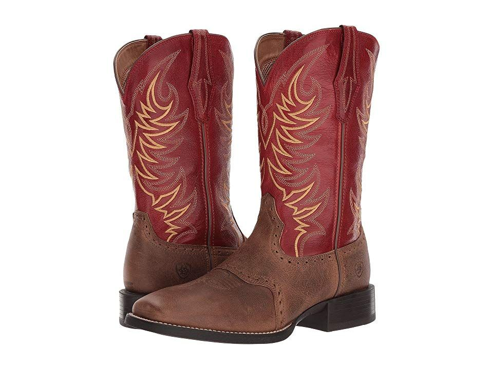 eb52f34c994 Ariat Sport Sidewinder Cowboy Boots Baked Brown/Cherry Red in 2019 ...