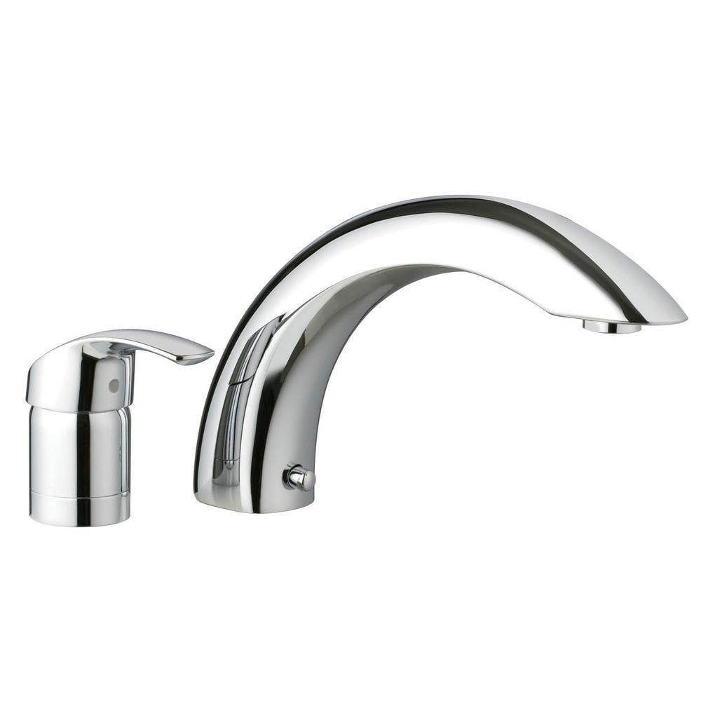 Grohe Euro Smart 1-Handle 2-Hole Deck-Mount Roman Tub Faucet in ...