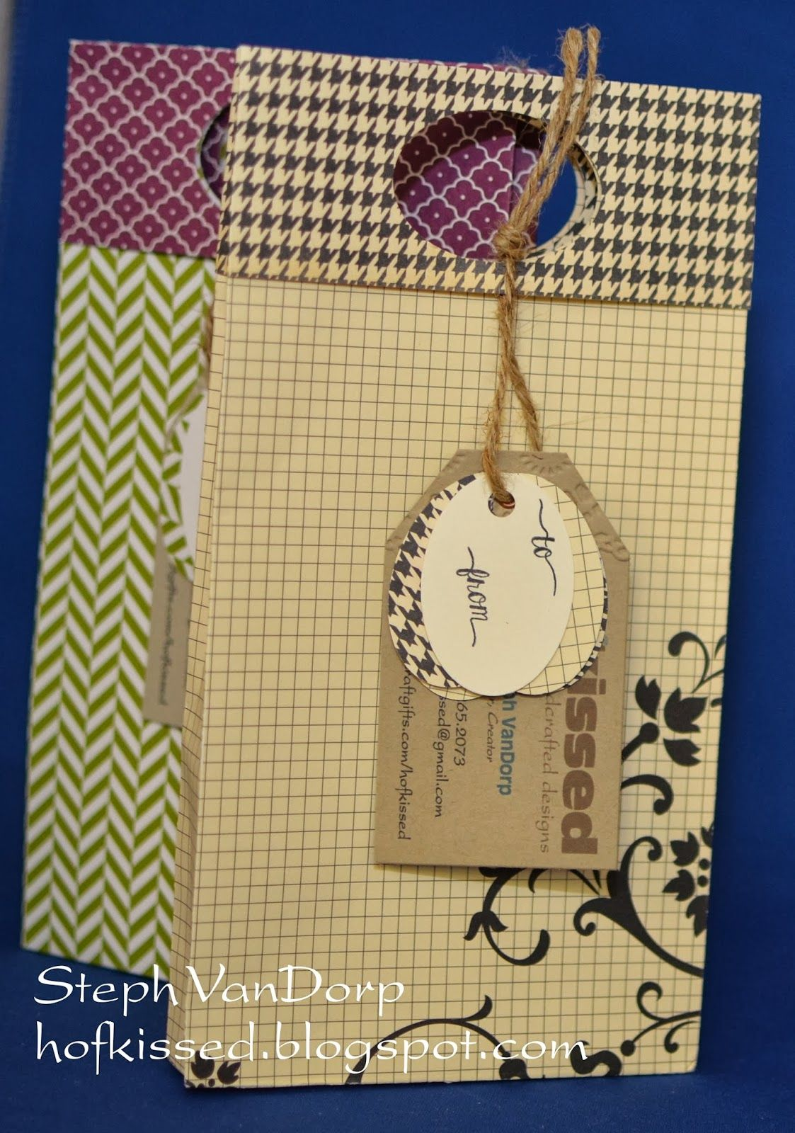 12x12 Bag with Written Tutorial! Small gifts, Paper