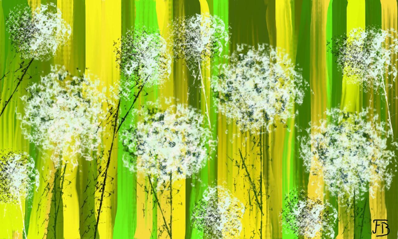 Pissenlit peinture petite fleur pinterest pissenlits - Fleurs printemps maternelle ...