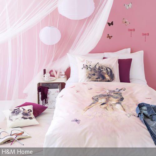 Bettwäsche Mit Reh Motiv Kinderzimmer Kids Bed Linen Hm Home
