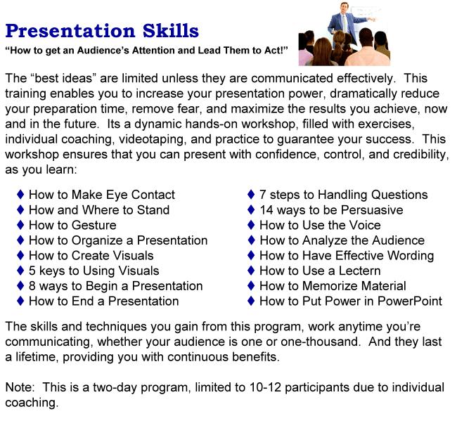 presentation training course